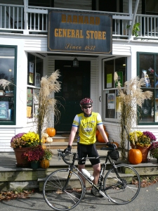 Photo taken when out on  a bike ride with son Geoffrey.  Barnard General Store is one of our favorites!