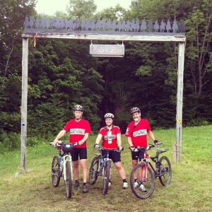 Green Mountain Bike Patrol Team at the finish