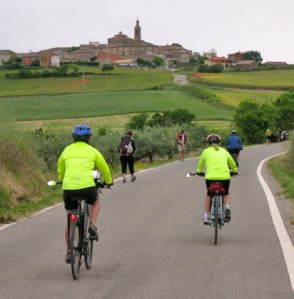 Riding with other Pilgrims