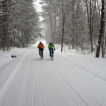 Winter cycling in Vermont