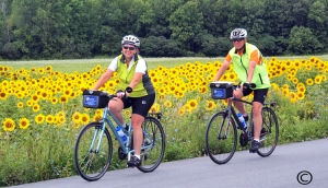 Sunflower-cyclists