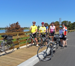 A gorgeous day of cycling on our Cape Cod/Martha's Vineyard tour.